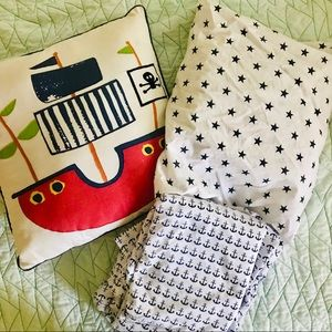 Nautical Twin Sheets & Accent Pillow